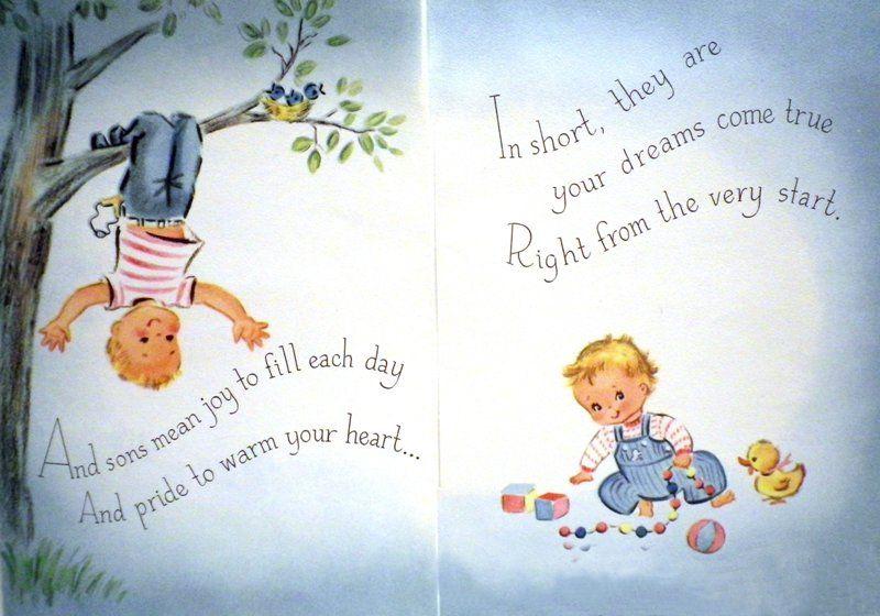 https://flic.kr/p/dL4pVp | Vintage Baby Shower Card (inside) - 1961