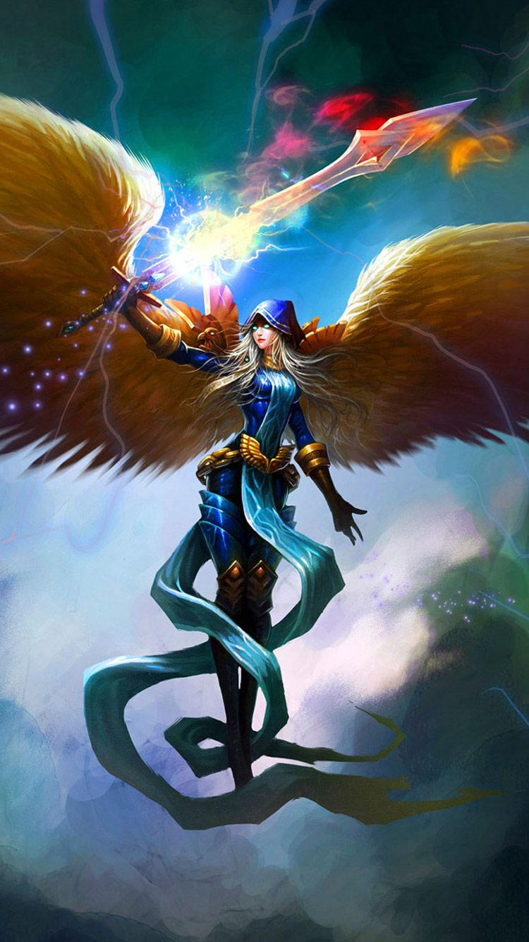 iphone wallpapers, league of legends angel iphone hd wallpaper