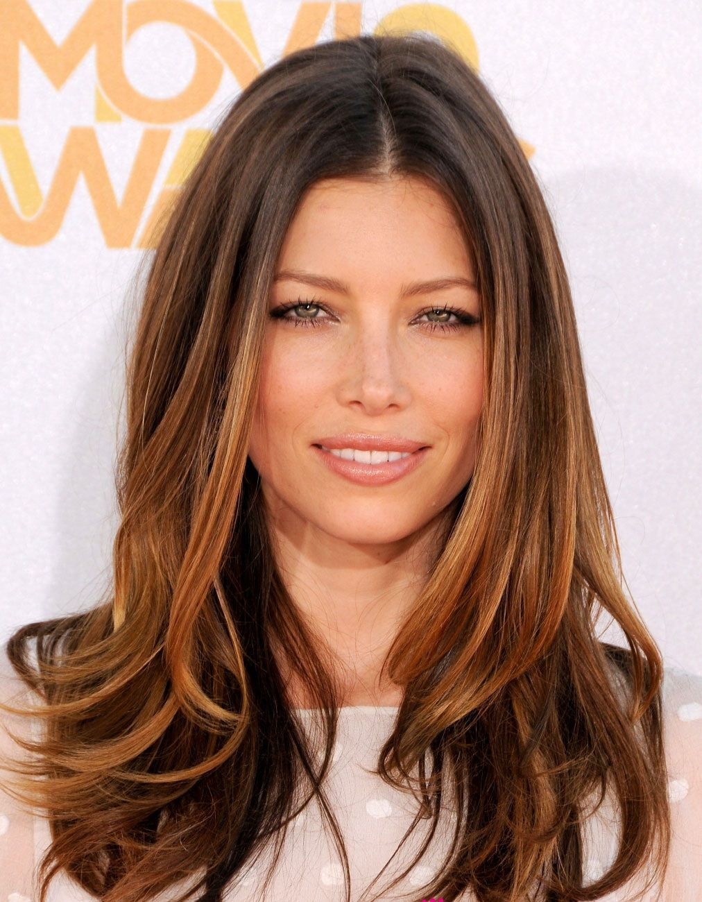 Jessica biel ombre sombre hair sunkissed waves caramel hair pmusecretfo Images