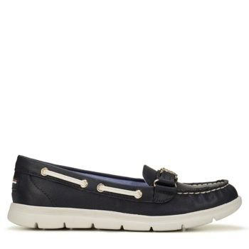 825a03c5a Tommy Hilfiger Women s Lhani Boat Shoes (Marine Chic Cream) - 8.0 M ...