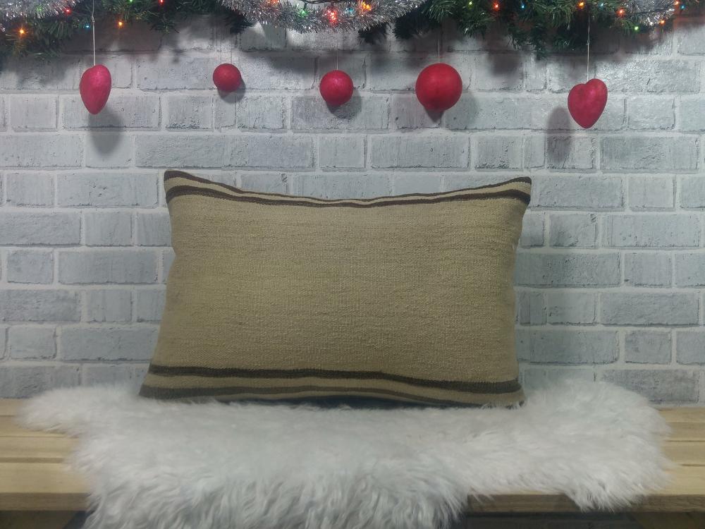 Decor pillow , turkish kilim pillow , pillow cover , basic pillow , 16 x 24 couch pillow , handmade pillow , decorative sofa pillow , 1762