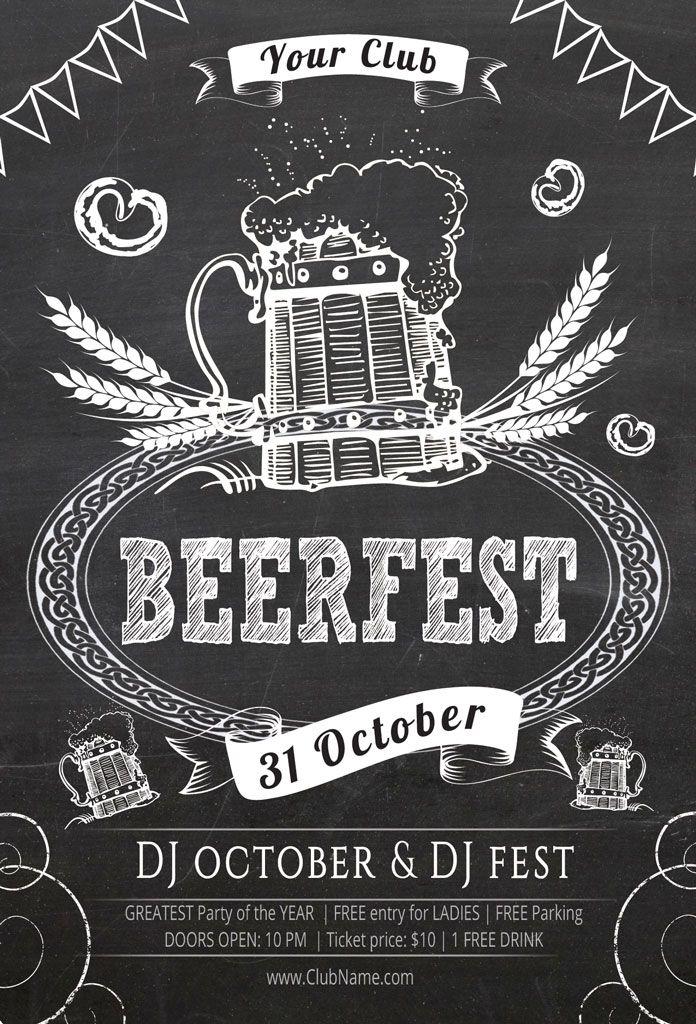 Oktoberfest Flyer Template By Oloreon On Creative Market  Fliers