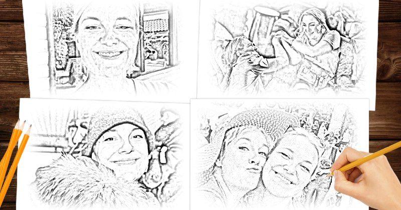 Lad os sketche dine 4 foretrukne fotos!
