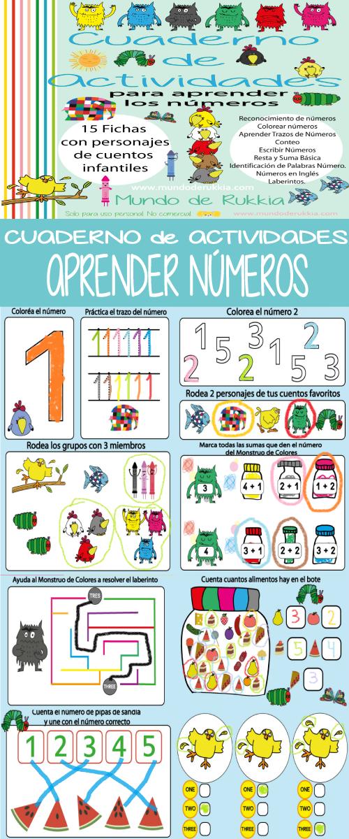 Cuaderno de Actividades para Aprender los Números | Pinterest ...