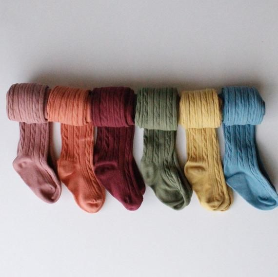 Photo of Hand dyed, Fall cable knit tights, baby tights, cable knit tights, girls tights, warm tights