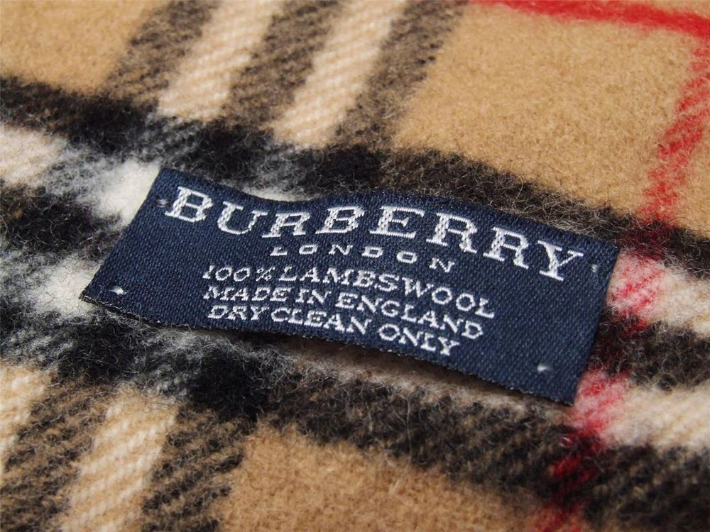 Genuine Burberry London Scarf 100% Lambswool Made in England