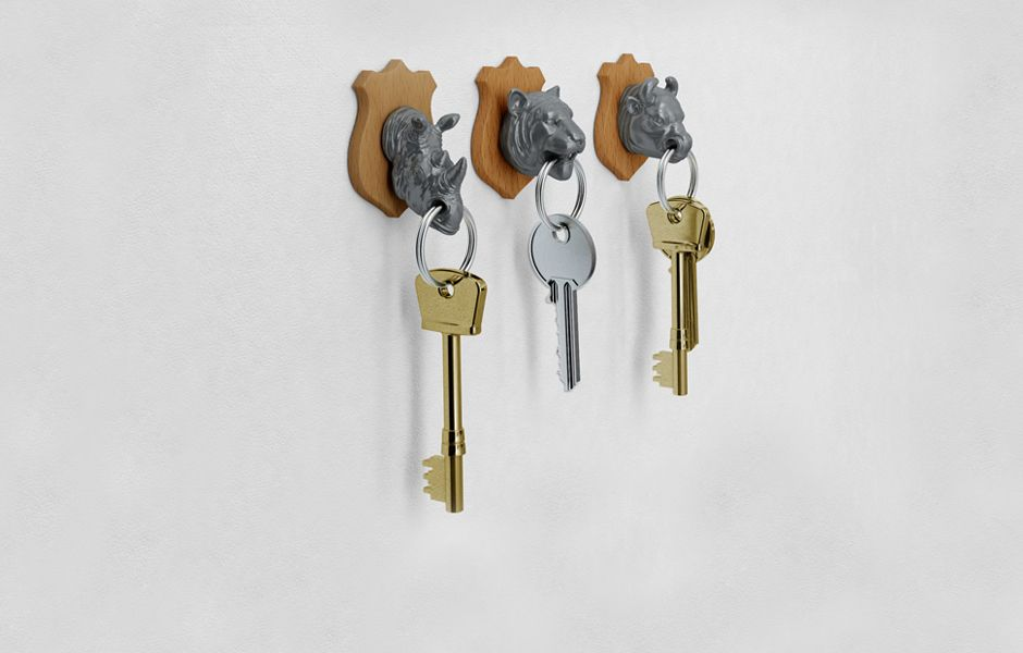 Animal Head Key Holder Sale Half Price Steel Trophy Heads With