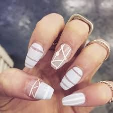 Image result for gold geometric nail art