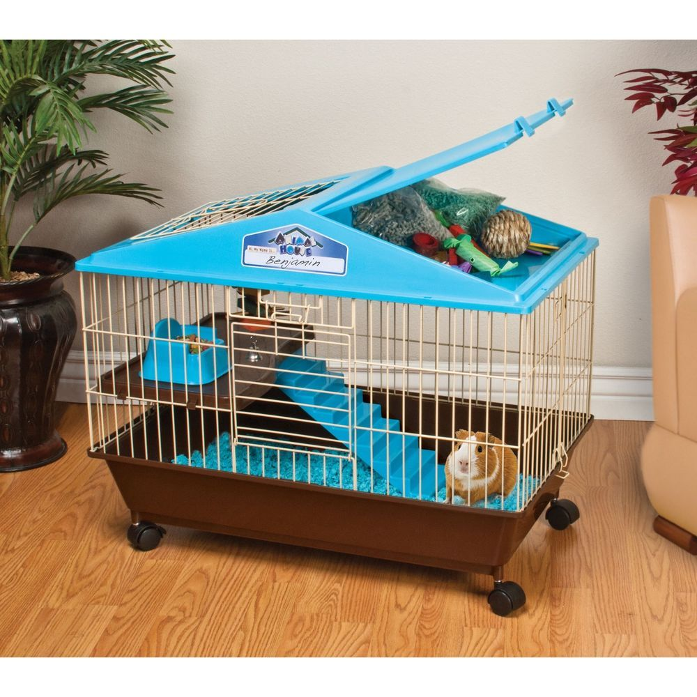 Details About Guinea Pig Cage For Sale Small Two Level Animal Pet Play Pen House Accessories