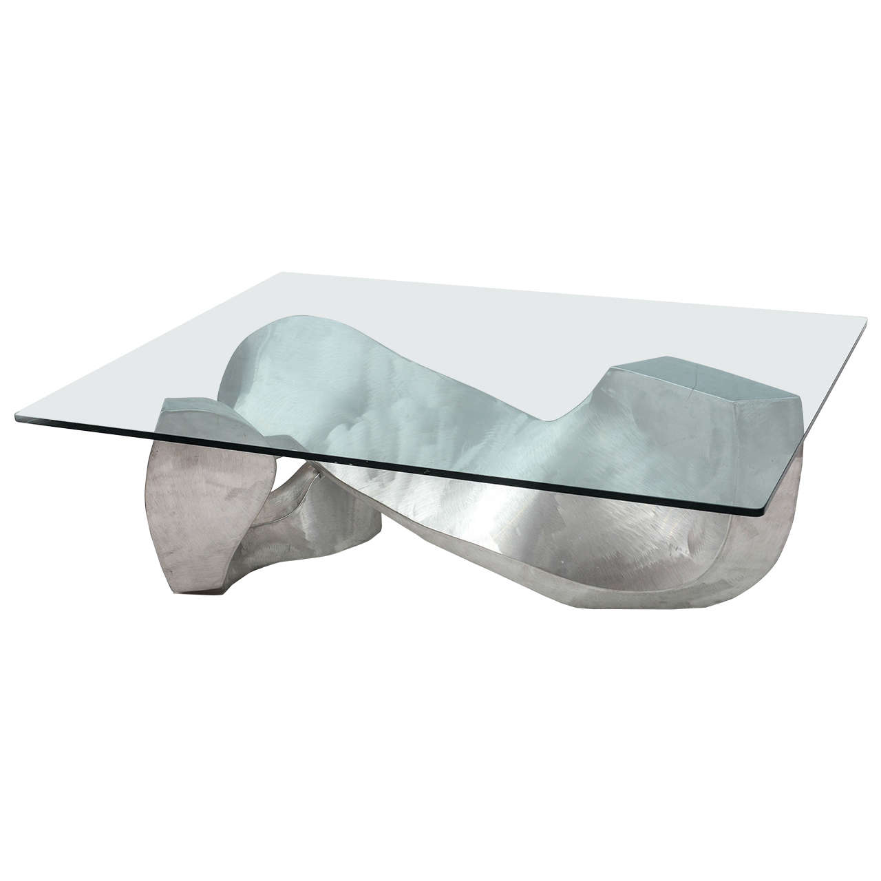 Bill Barrett Fabricated Aluminum Sculpture Coffee Table Bill
