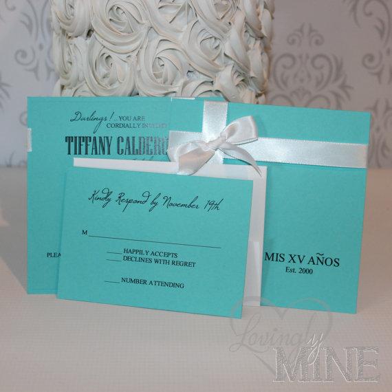 Quincenera Tiffany & Co Inspired Invitations with by LovinglyMine, $22.00