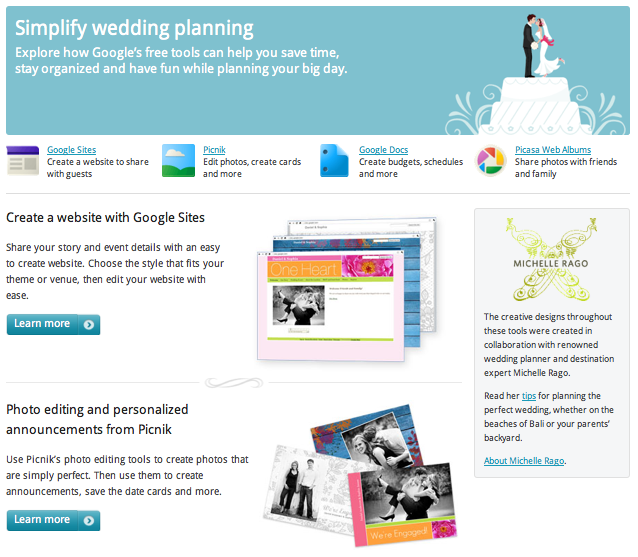 Using google to link sites when palnning a wedding instead of logging into a ton of sites every time you visit them!! I will be testing this out :)