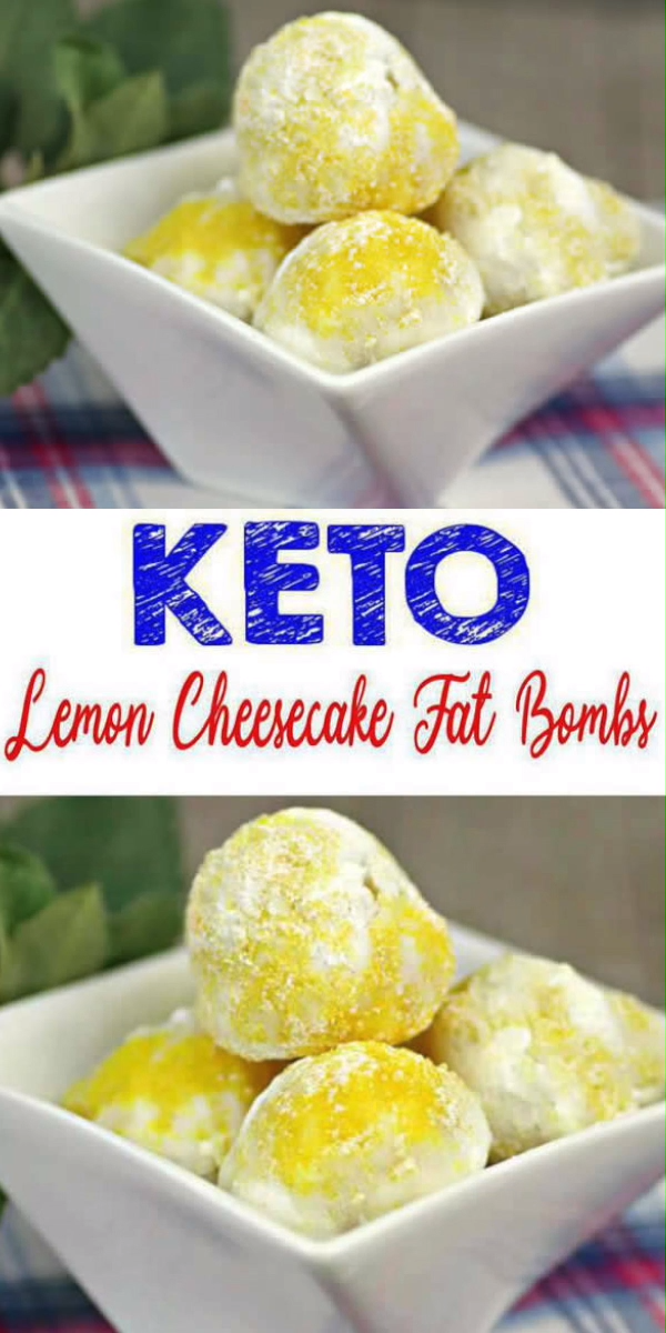 Keto Lemon Fat Bombs – BEST Lemon Cheesecake Fat Bombs – Easy NO Bake Low Carb Recipe #ketodessert