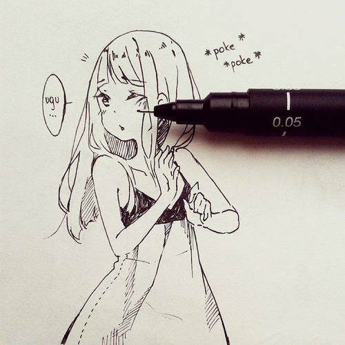 Ohhh So Cute Manga Drawing Anime Drawings Anime Sketch