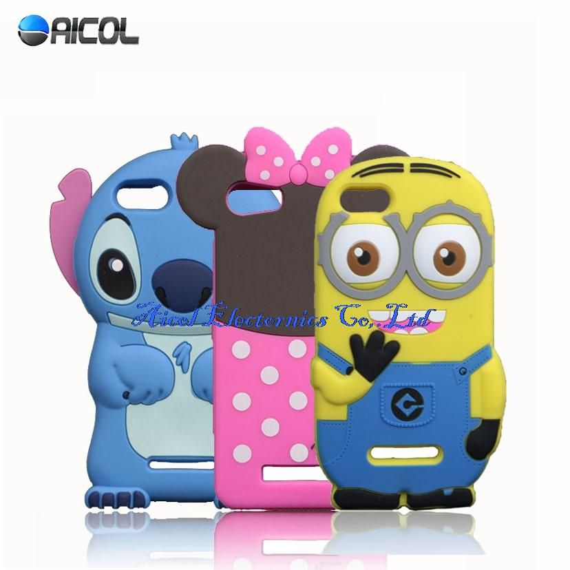 New 3D Cartoon Minions Stitch Silicone Case For Wiko Lenny 2 ...
