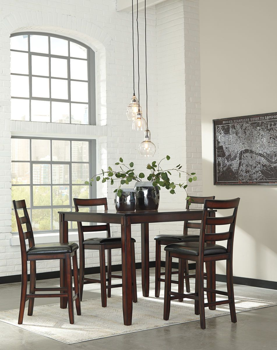 Ashley Coviar Brown Dining Room Counter Table Set Design