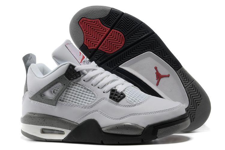Air jordan 4 white grey men basketball shoes $72.05