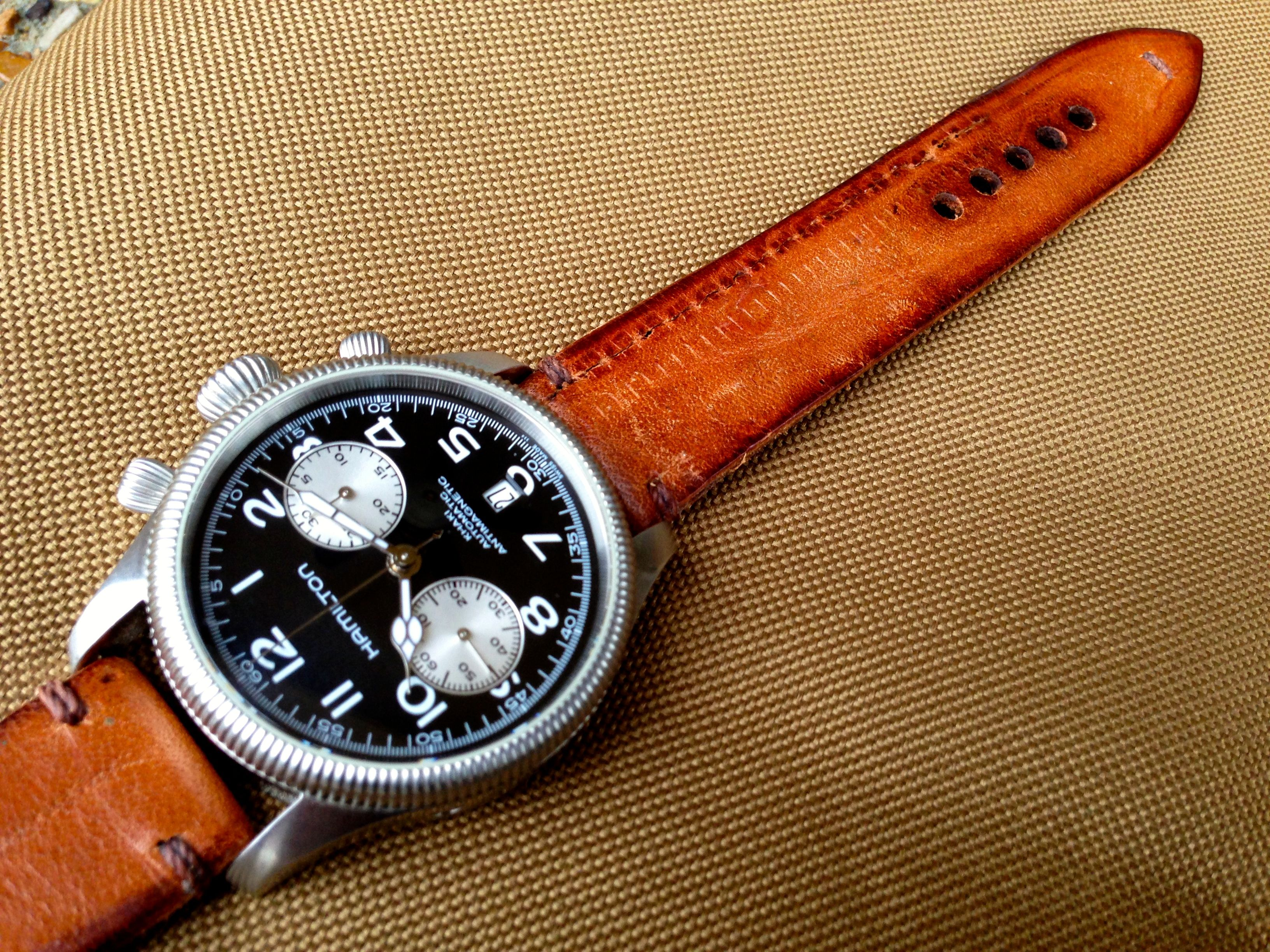 Hamilton Pioneer With Antique Leather Strap
