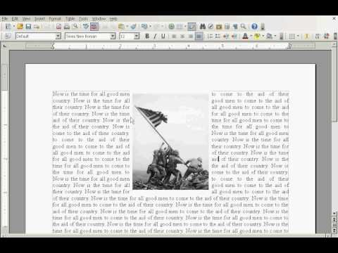 OpenOffice Tutorial How To Insert And Adjust An Image open office - how to make a budget spreadsheet in openoffice