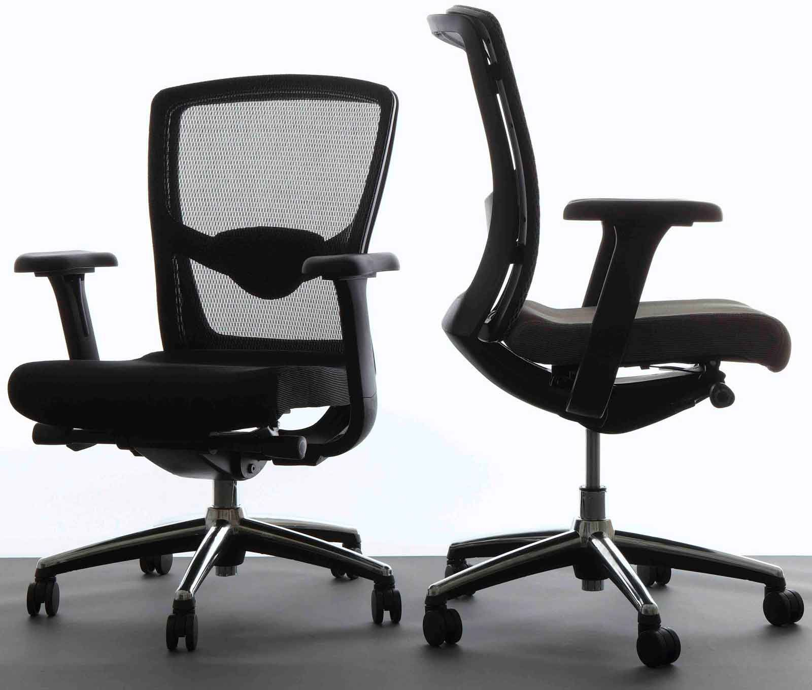 marvelous ergonomic desk chairs with black color and set slider in