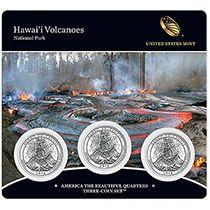 2012 America The Beautiful Quarters Three Coin Set Hawai I Volcanoes Nat Volcano National Park America The Beautiful Quarters Hawaii Volcanoes National Park