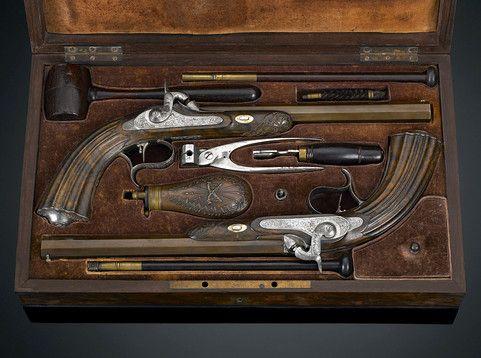 French Dueling Pistols Antique Guns Antiques Antiques Online