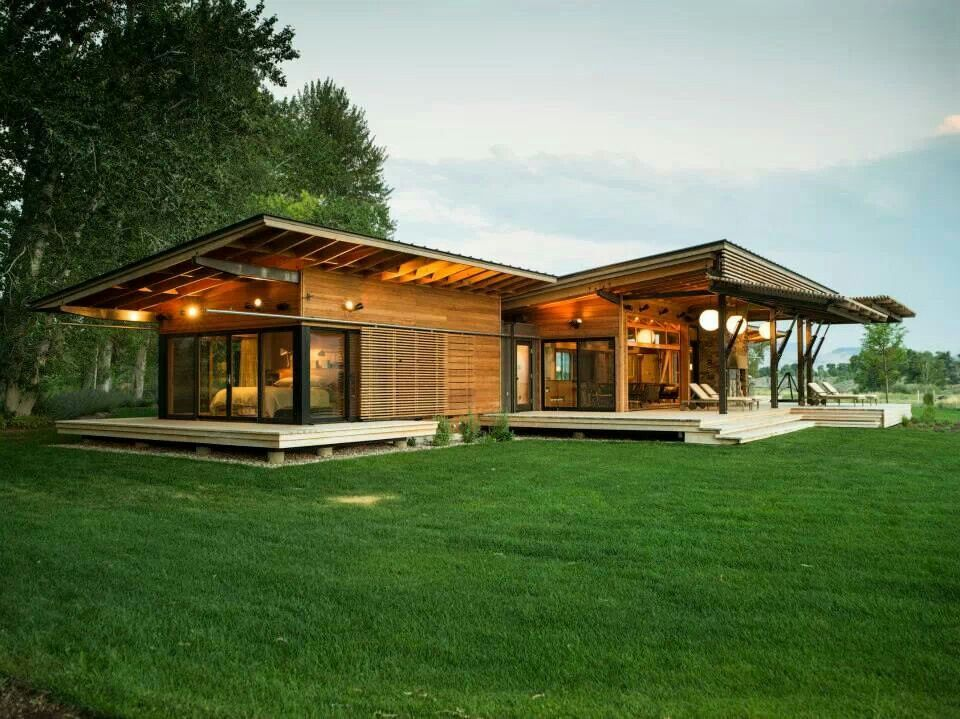 Pre Fab Montana Abode Sunset Magazine Ranch House Plans Ranch