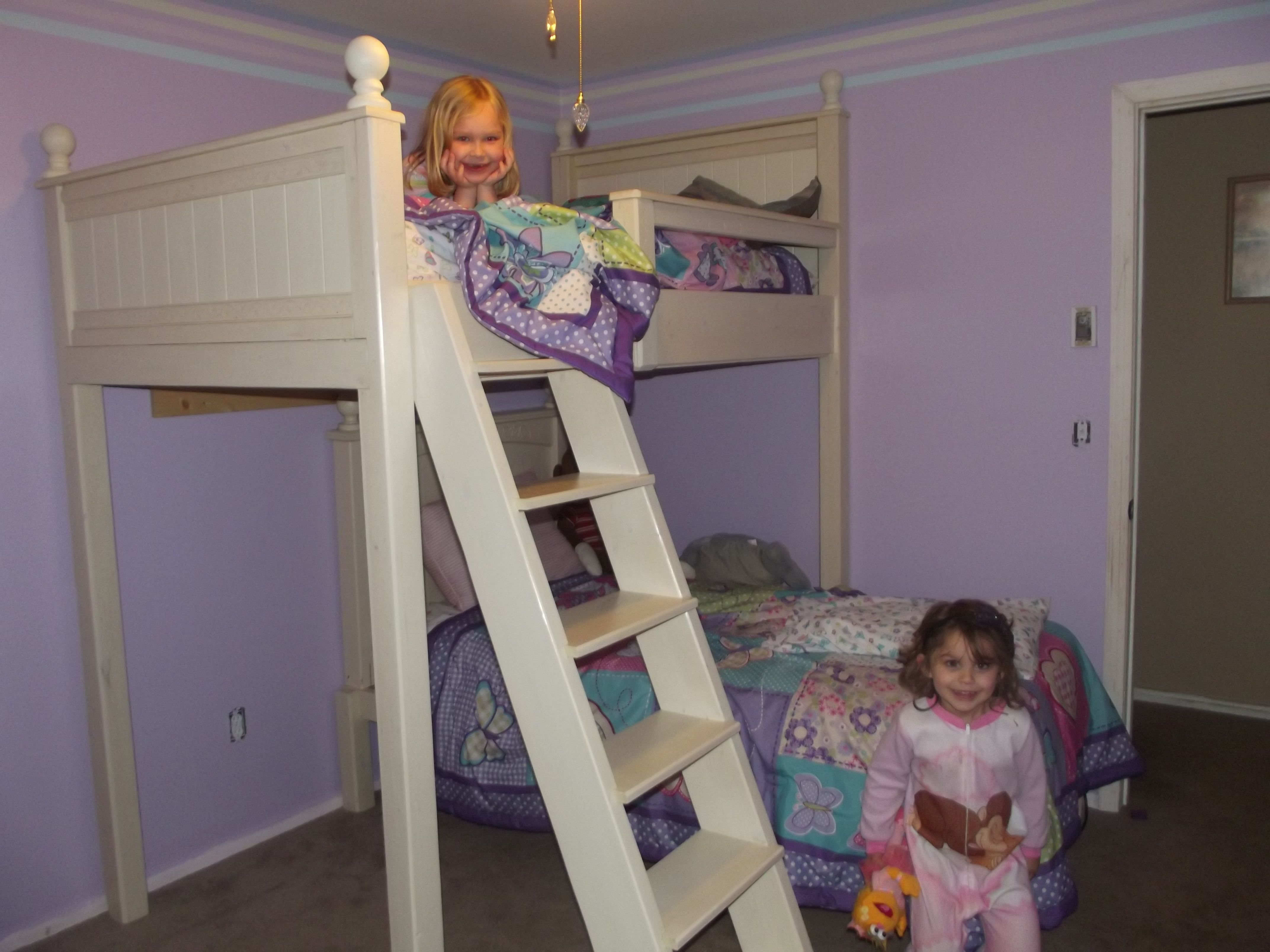 Loft beds for kids diy  DIY loftbunk beds my hubby is awesome  DIY home  Pinterest