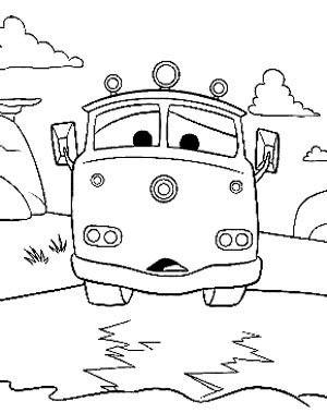 Cartoon Cars Coloring Page - Cartoon Car car coloring ...