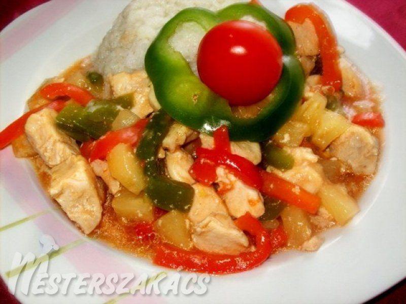 Édes-savanyú csirke recept