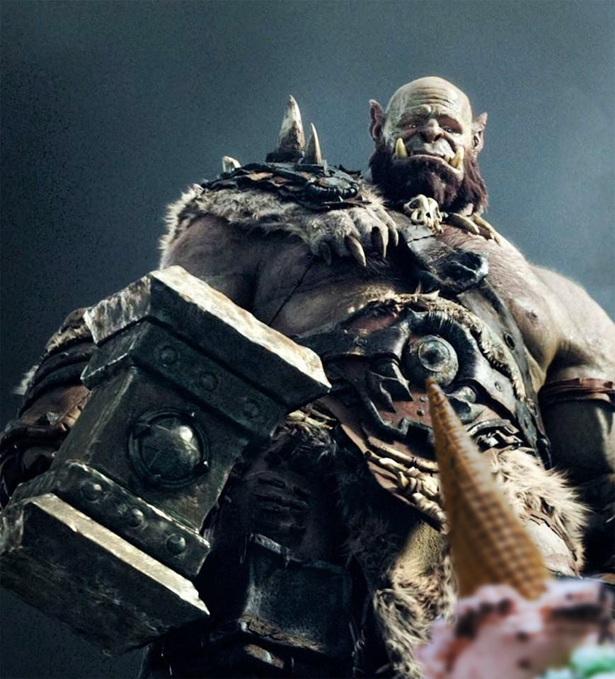 Don't cry Orgrim, we'll get you another one. Warcraft