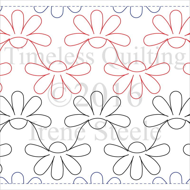 Little Daisy Chain Digital Machine Quilting Pattern by Timeless ...