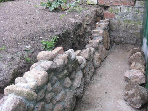mauer steinmauer mauer aus feldsteinen selbstgemacht | garten, Gartenarbeit ideen