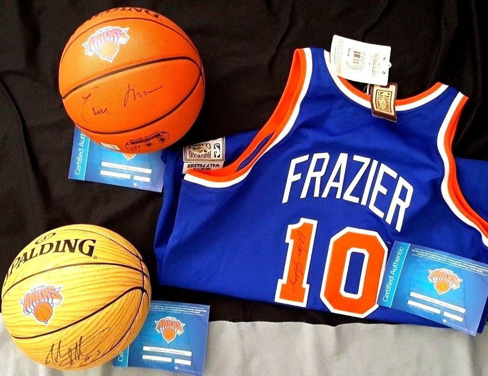 the best attitude 20dfc bbeaf NY Knicks signed balls Earl Monroe John Starks, and Clyde ...