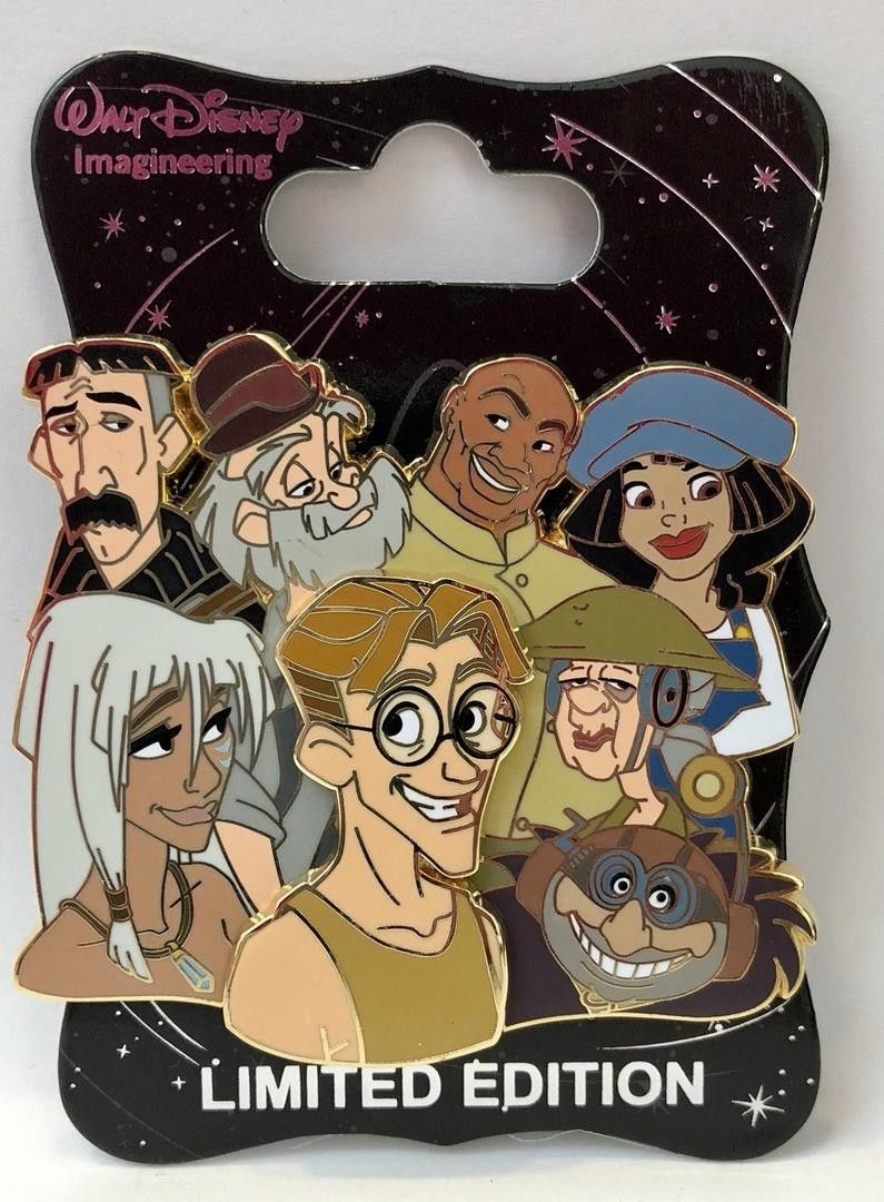 Wdi Disney Character Clusters Atlantis Milo Princess Kida Vinny