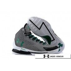 UA Curry 1 Shoes - Under Armour Stephen Curry 1 One Black Grey Green Shoes