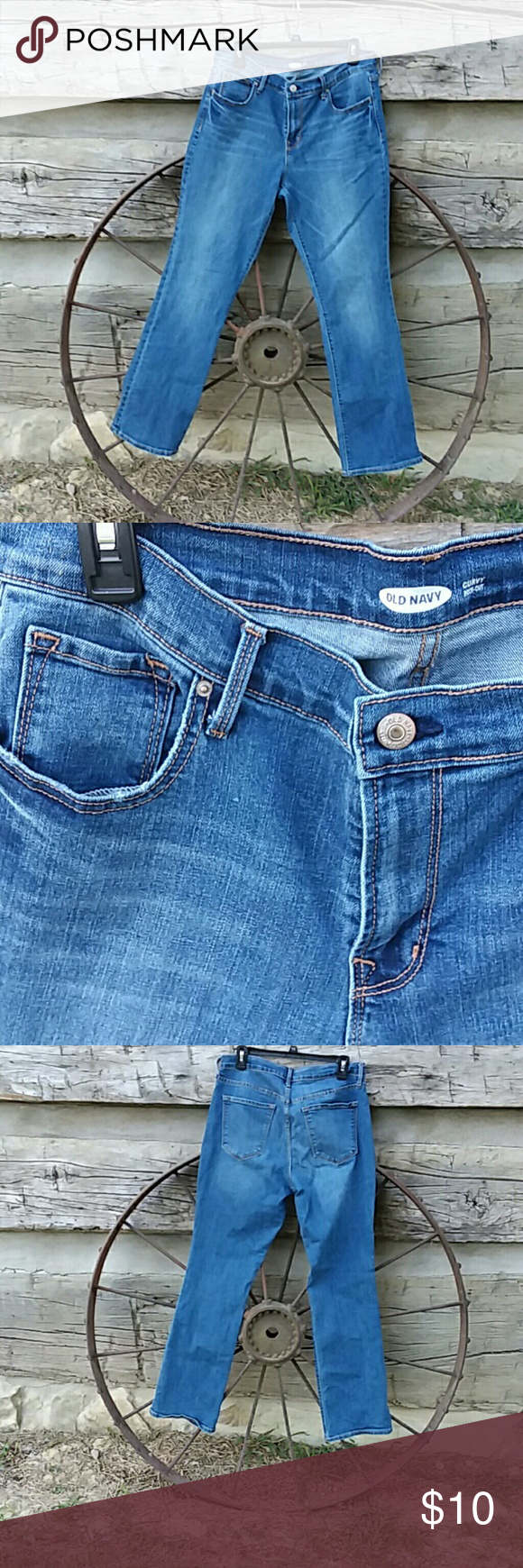 Old Navy curvy fit jeans bootcut. Size 12. Old Navy