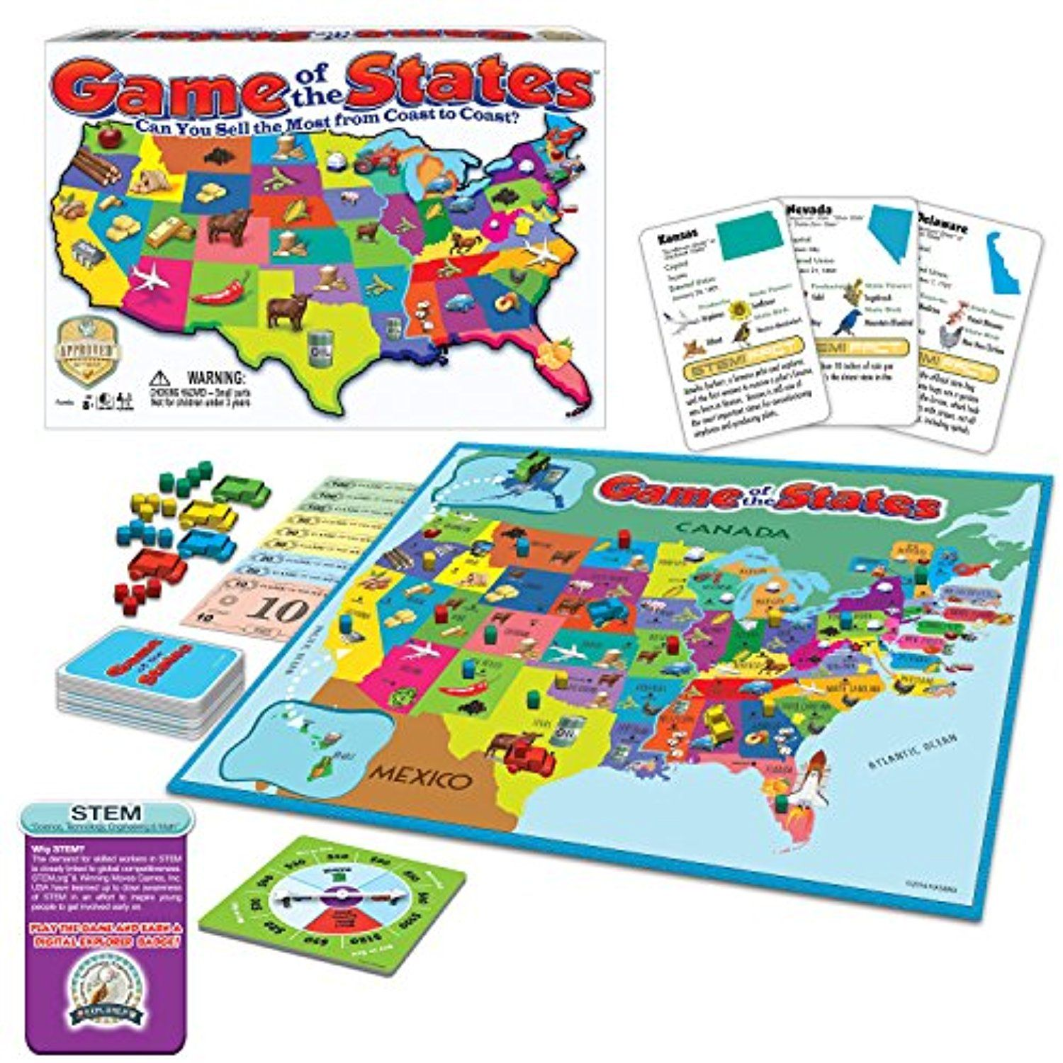 Game Of The States Can You Sell The Most From Coast To