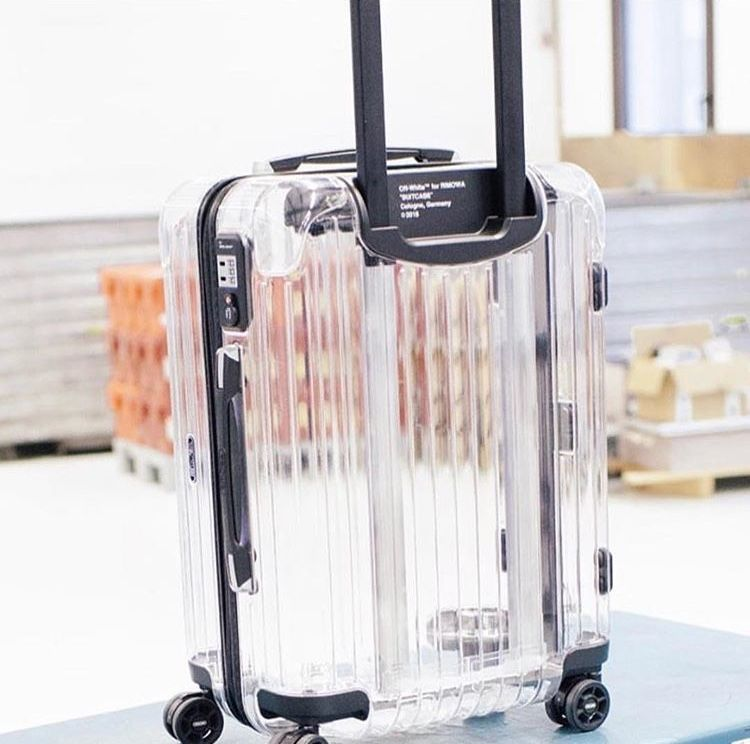 offwhite #rimowa #transparent #luggage