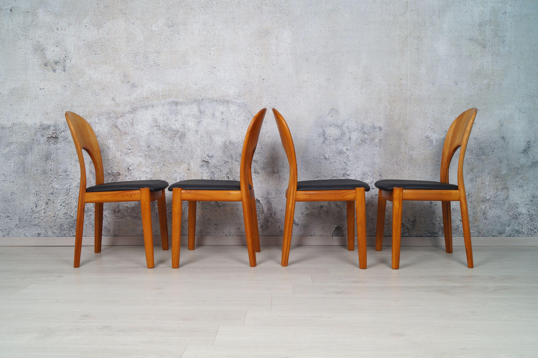 4er Set Teak Esszimmer Stuhle Koefoeds Hornslet Danish Design In 2020 Teak Dining Chairs Teak Chairs Teak