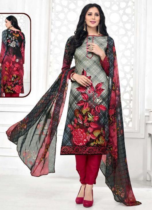 Alok Glaze Cotton Silk Dress Material (10 pcs Catalog) | Wholesale ...