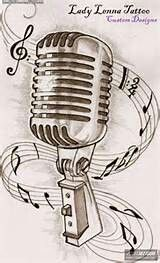 Elvis Microphone Banner Google Search Microphone Tattoo Music Tattoos Old School Tattoo