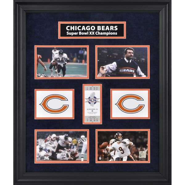 Chicago Bears Fanatics Authentic Framed Super Bowl XX Photograph Collage-Limited Edition of 1000 - $149.99