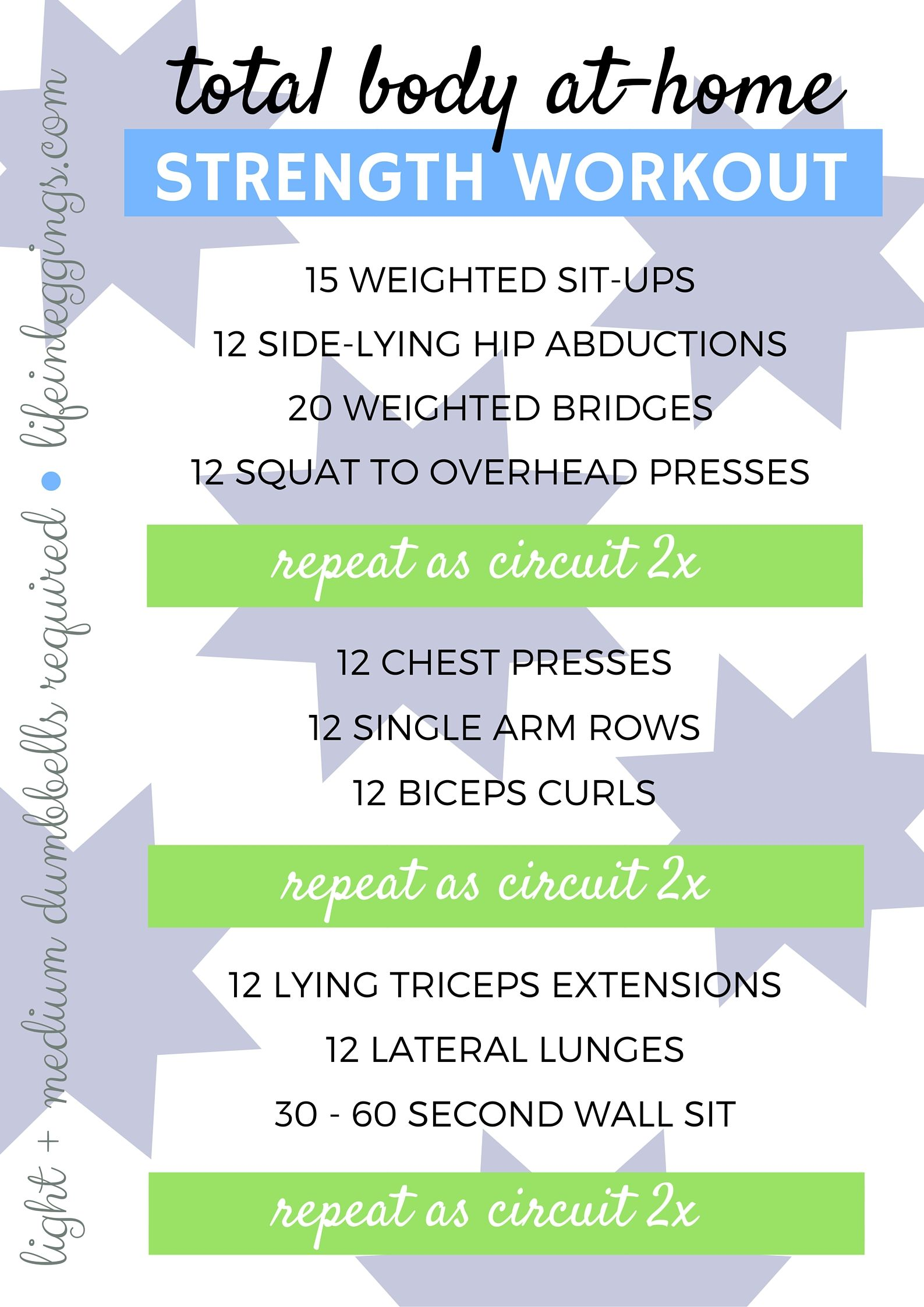 Total Body At Home Strength Workout