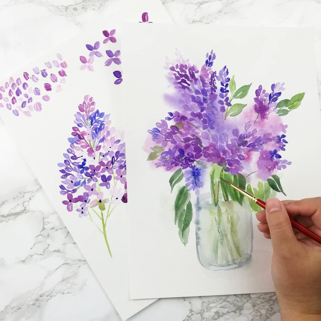 Watercolor Lilacs Things Unseen Designs Skillshare Class