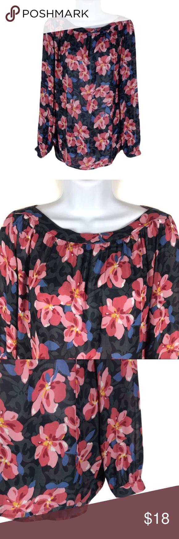 Loft Floral Long Sleeve Blouse