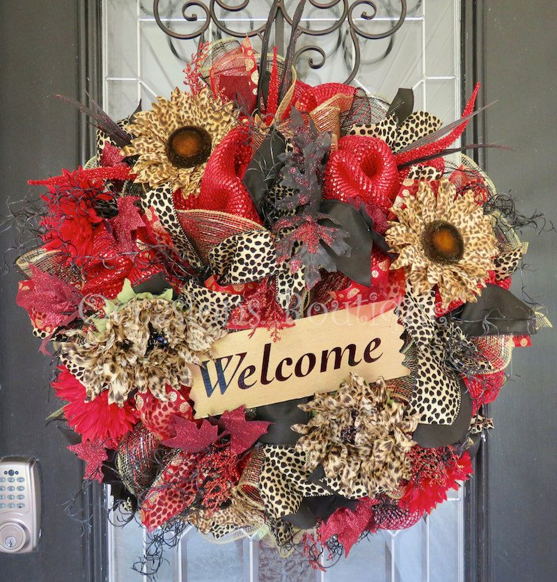 Everyday Wreath, Wreath For Door, Front Door Wreath, Large Wreath, Non