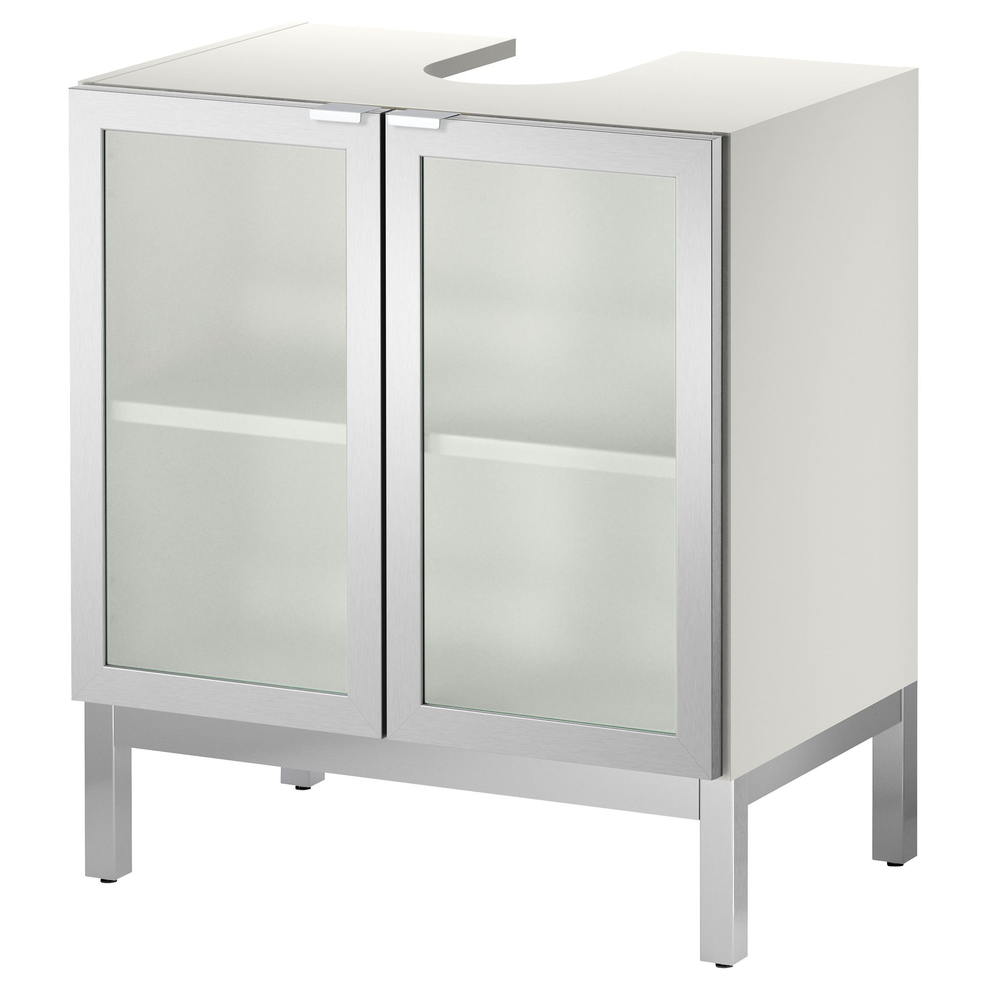 Lill ngen sink base cabinet with 2 door aluminum ikea Bathroom vanity cabinet storage