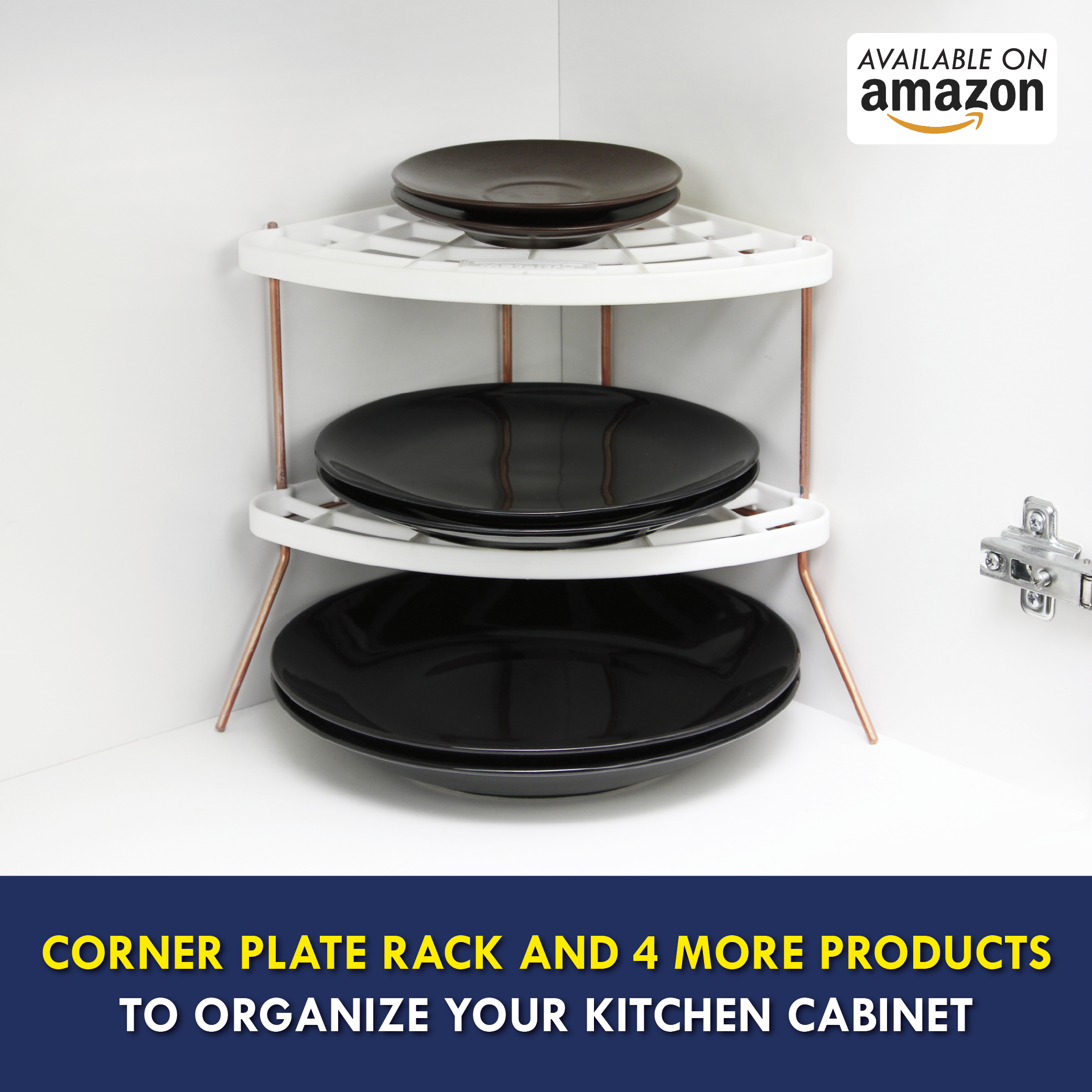 have more space to store itens in your cabinet corner plate rack and 4 more products for only u 25 99 available on a plate racks cabinet organization cabinet pinterest
