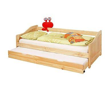 Estructura para cama nido en madera de pino Laura - 90x200 cm ...